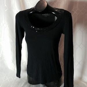 Express sexy scoop neck tee womens size Large